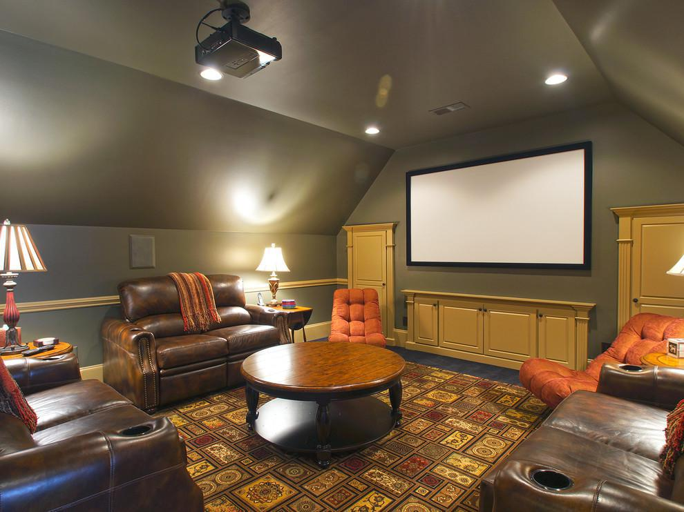 Image of: Attic Home Theater Style