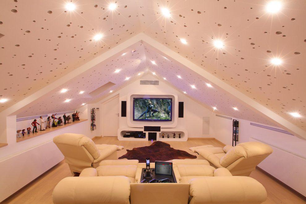 Image of: Awesome Attic Home Theater