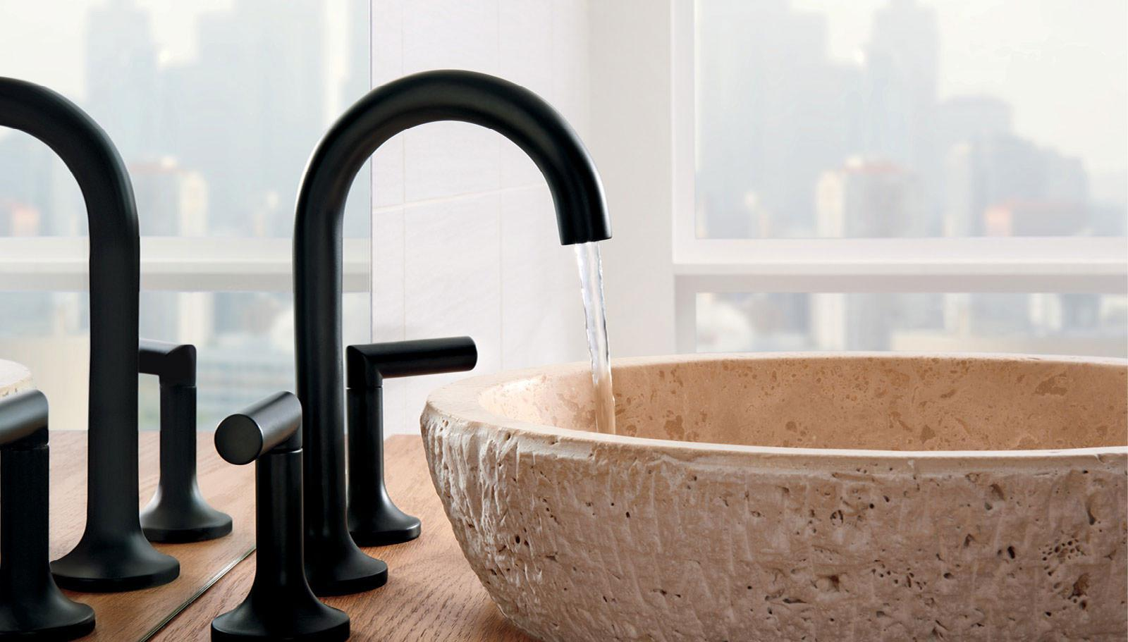 Image of: Bathroom Faucets Black