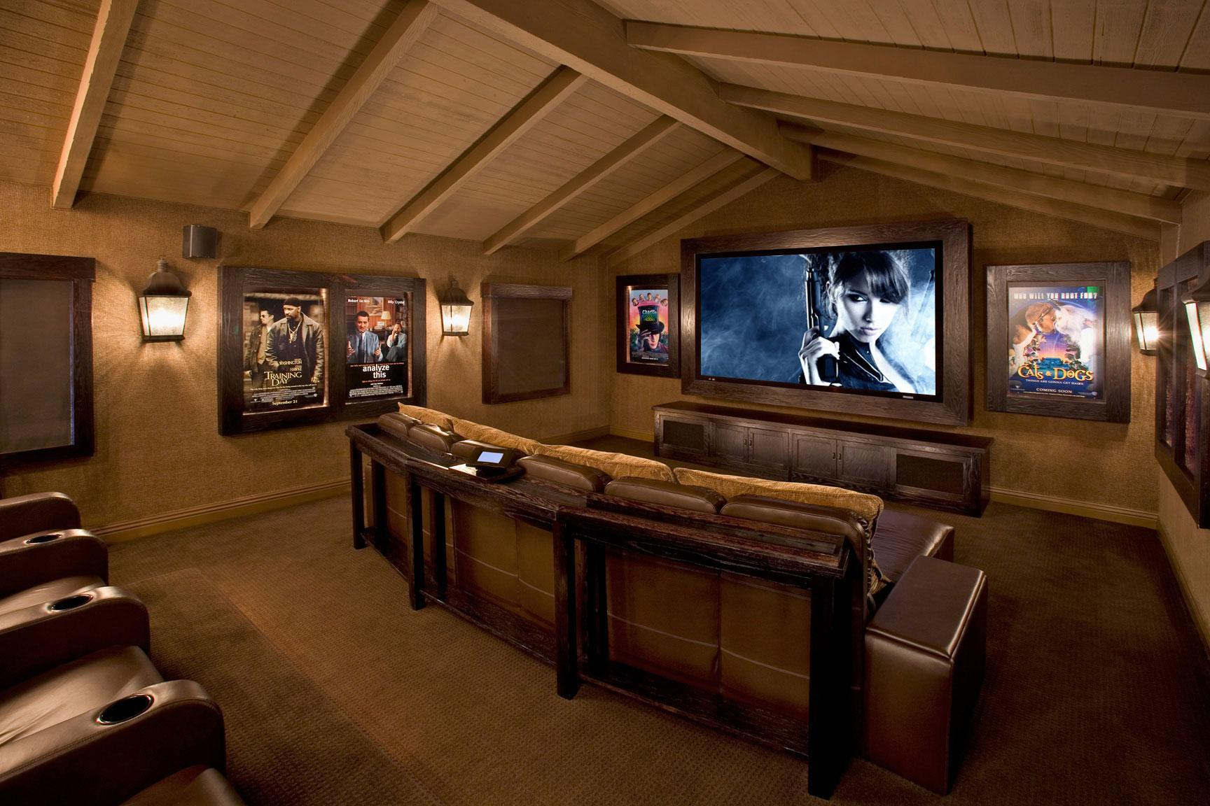 Image of: Best Attic Home Theater