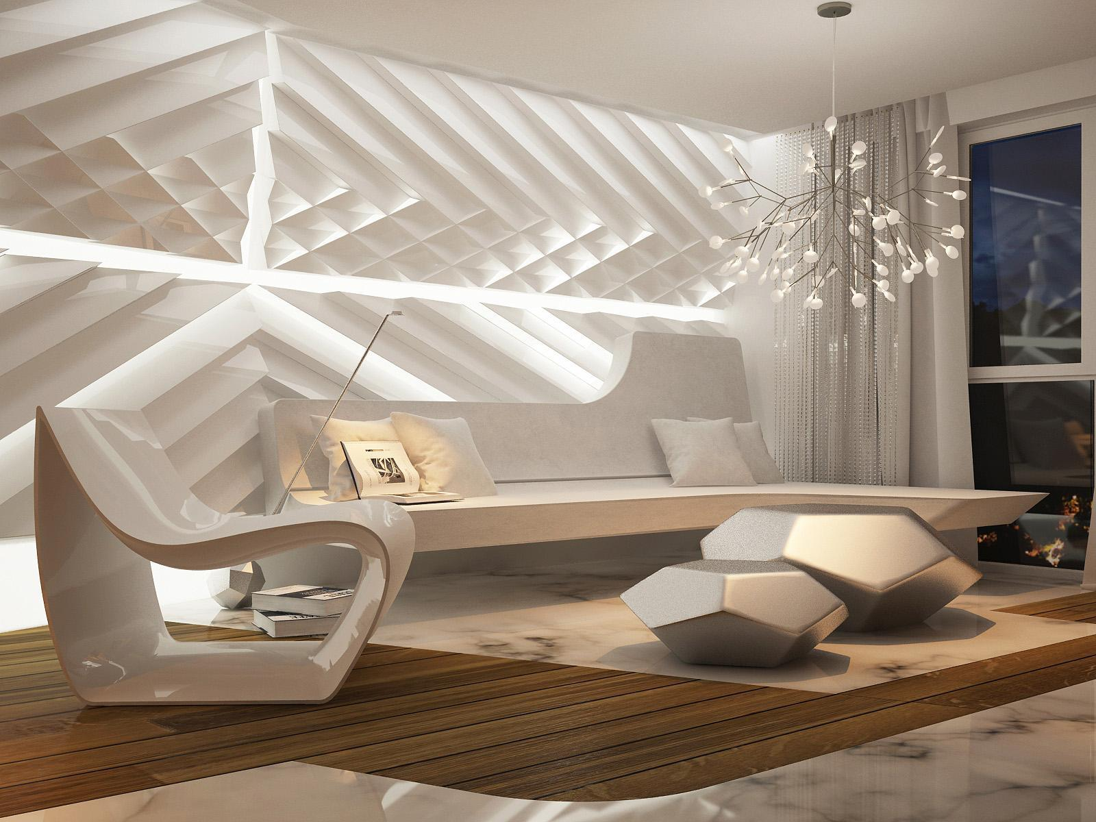 Image of: Best Futuristic Interior Design