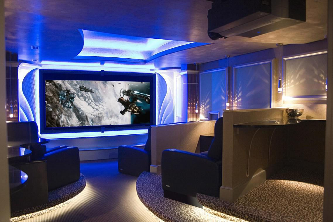 Image of: Best Home Theater Lighting