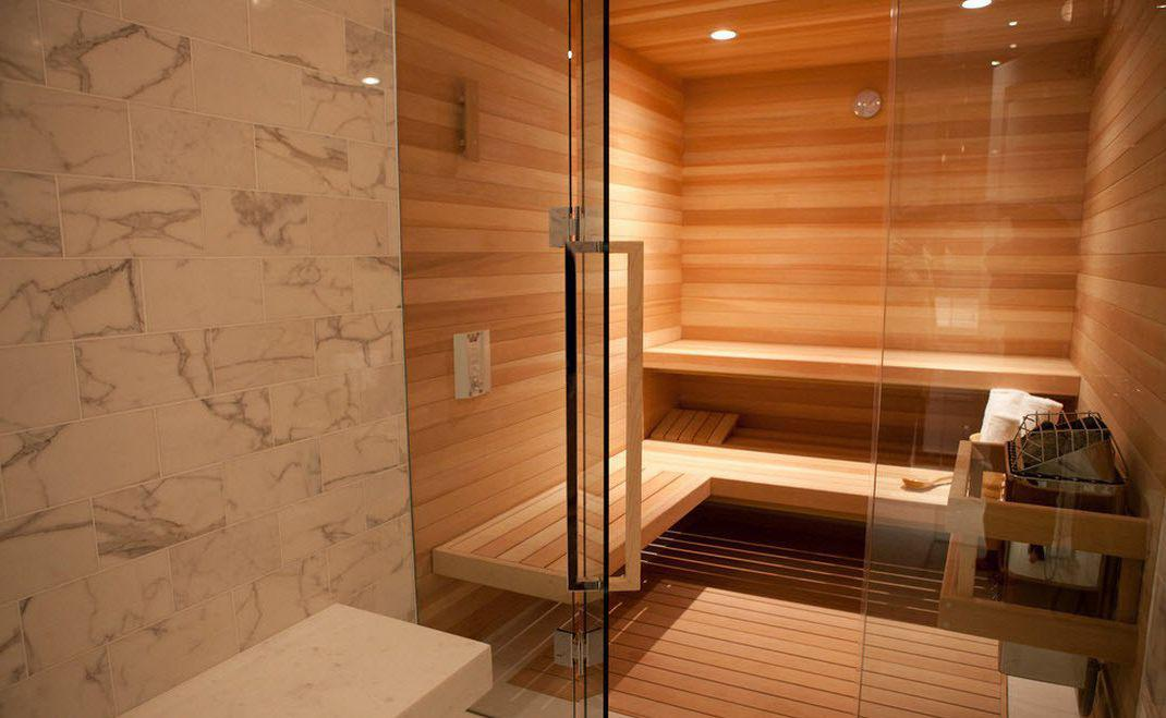 Image of: Best Sauna Glass Decor