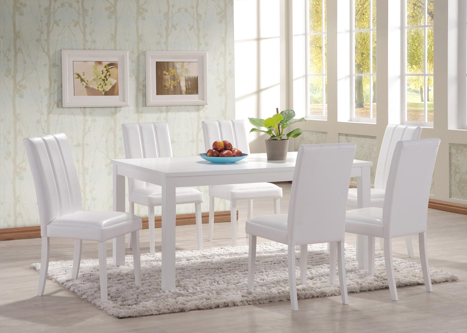 Image of: Best White Dining Table