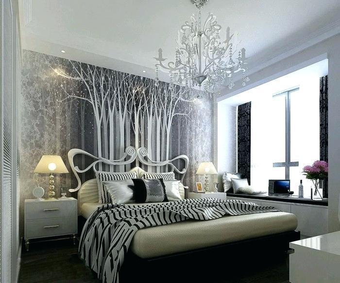 Image of: Black And Silver Bedroom Furniture