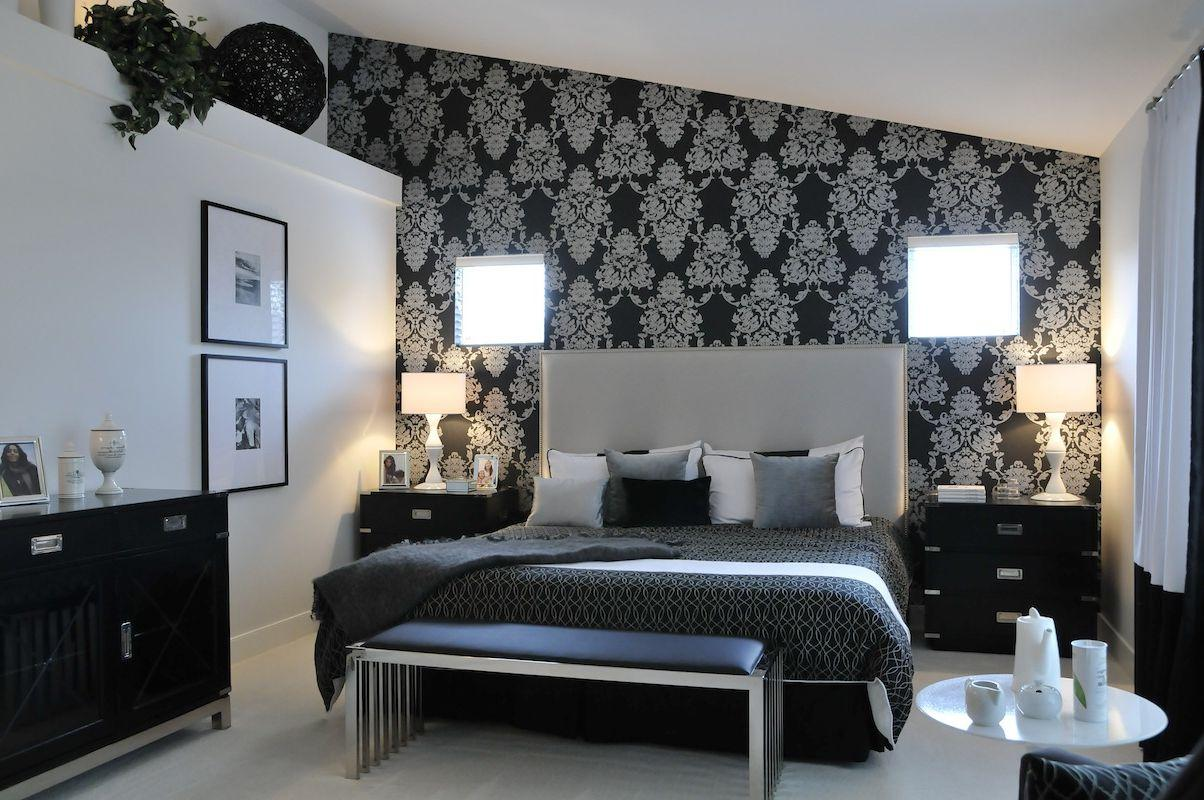 Image of: Black And Silver Bedroom