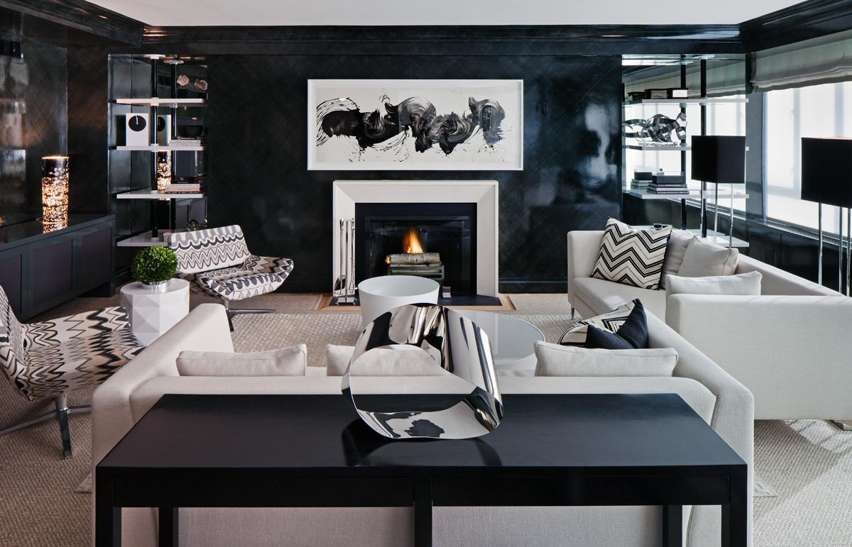 Image of: Black And White Living Room Furniture