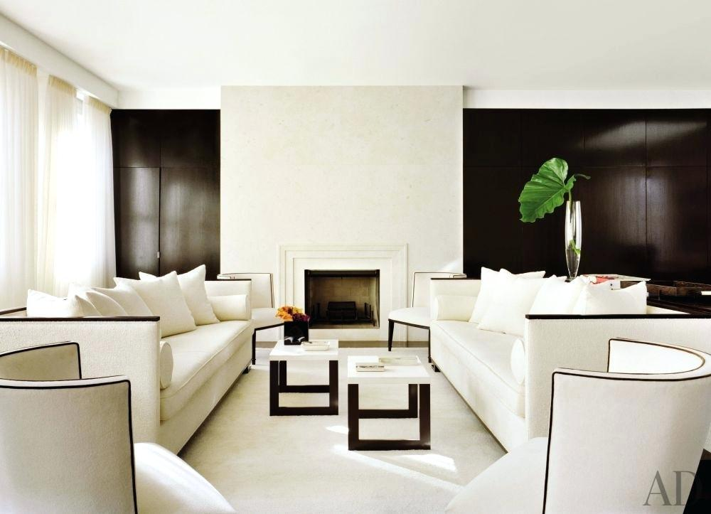 Image of: Black And White Living Room Set