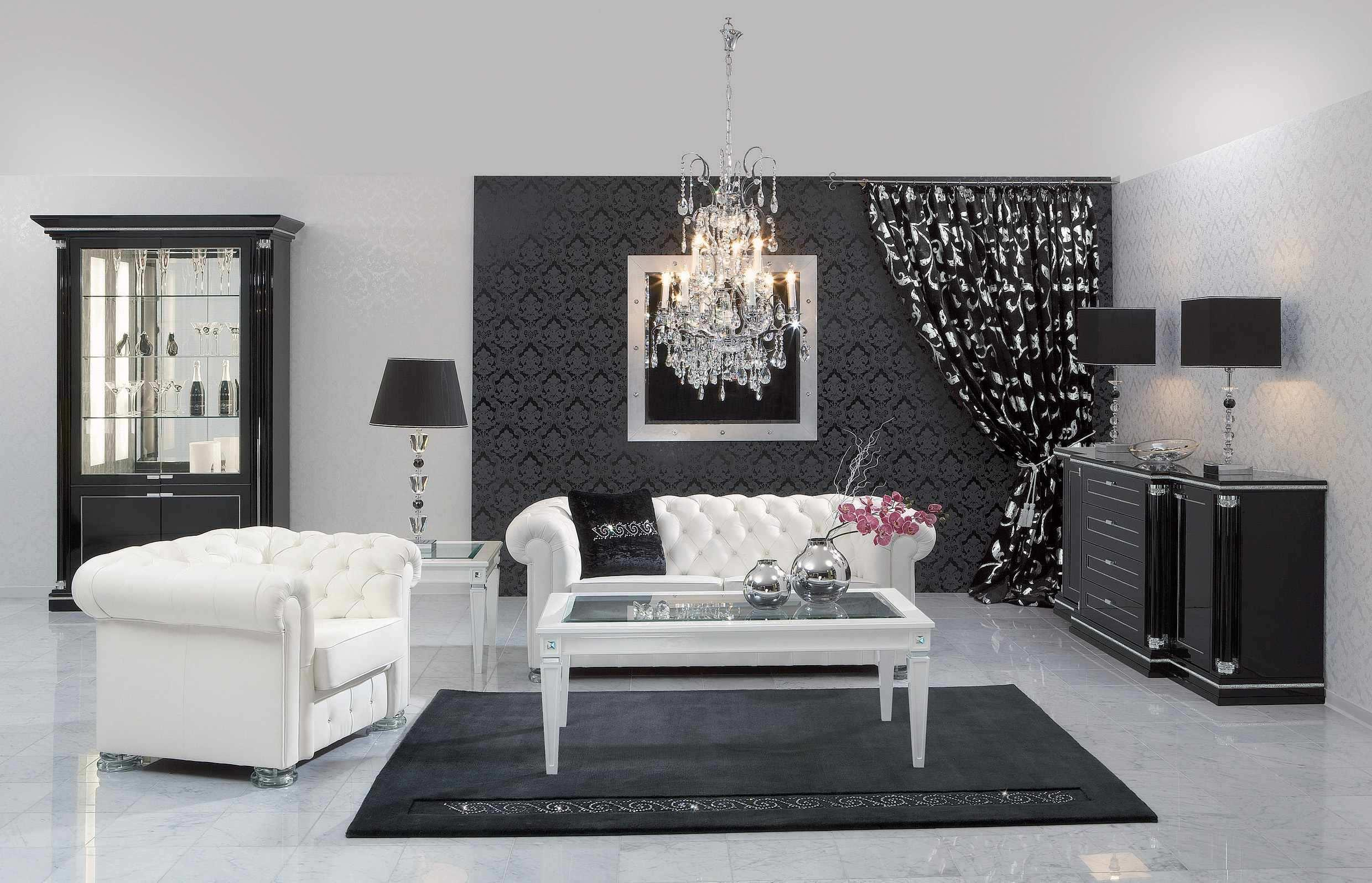Black And White Living Room Inspirations