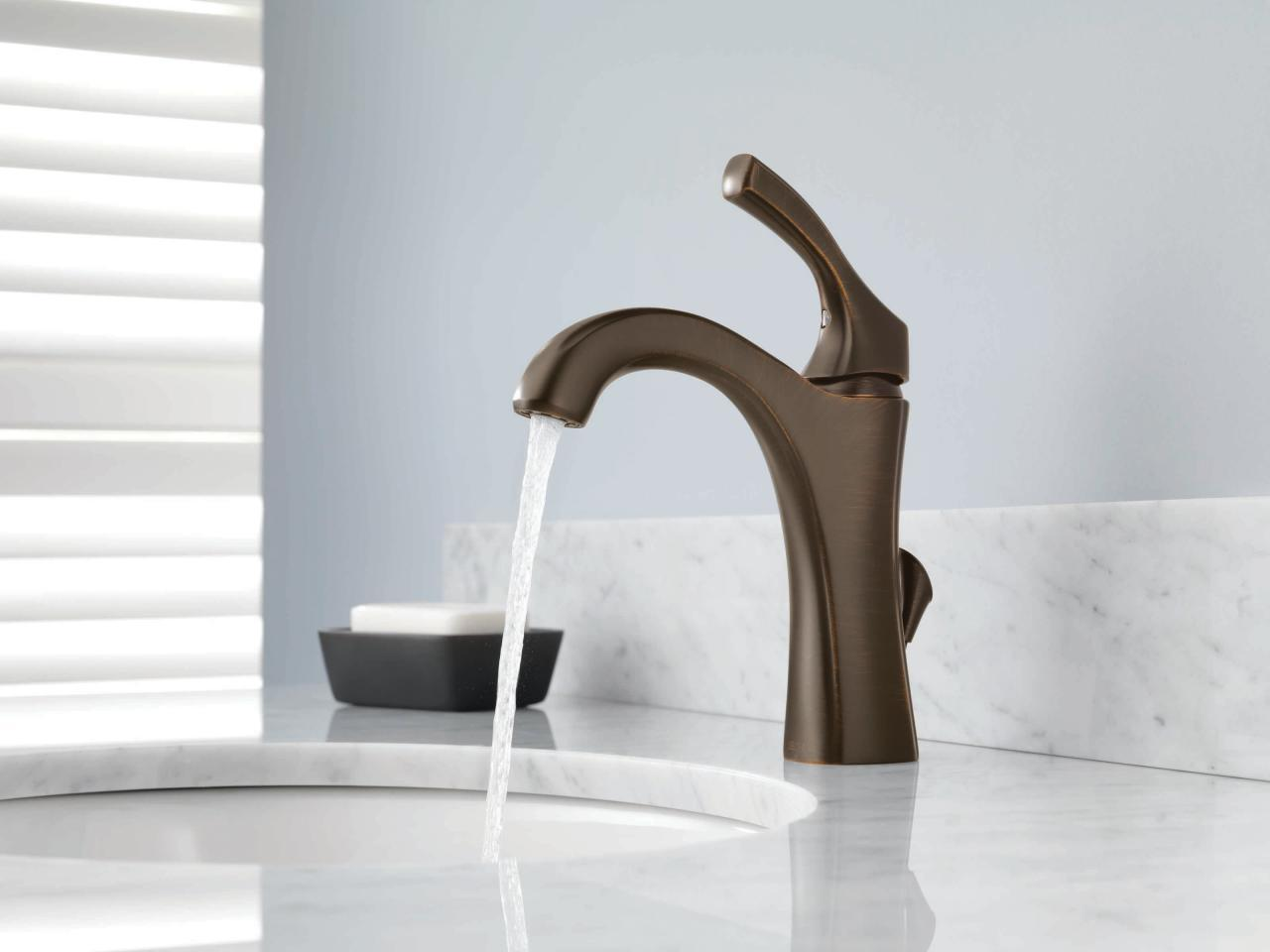 Image of: Bronze Faucet Bathroom Fixtures
