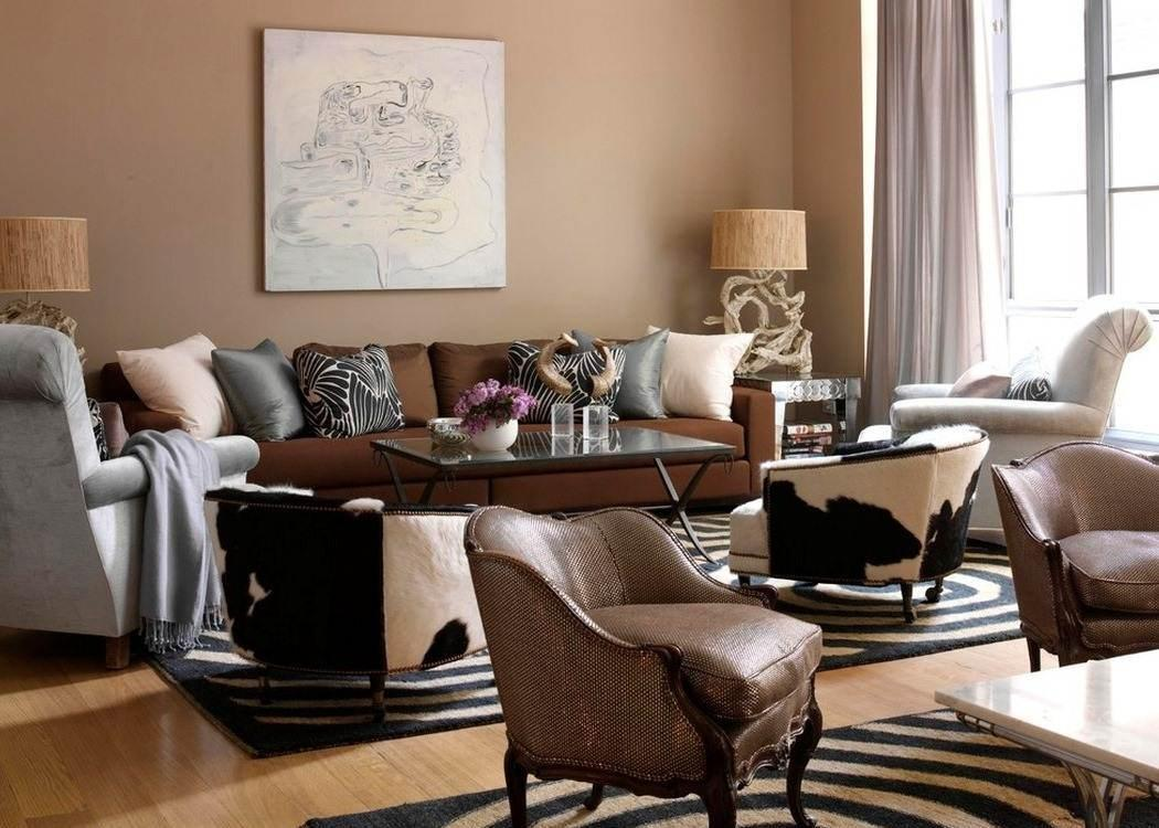 Image of: Brown Living Room Style