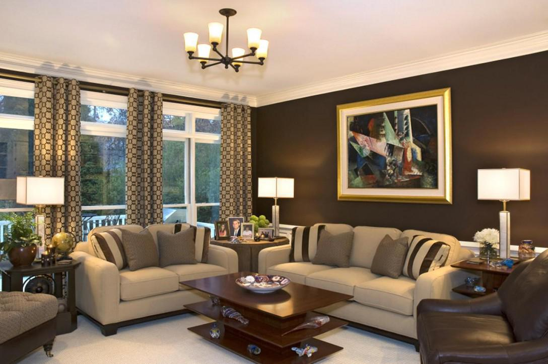 Image of: Brown Walls Living Room Ideas