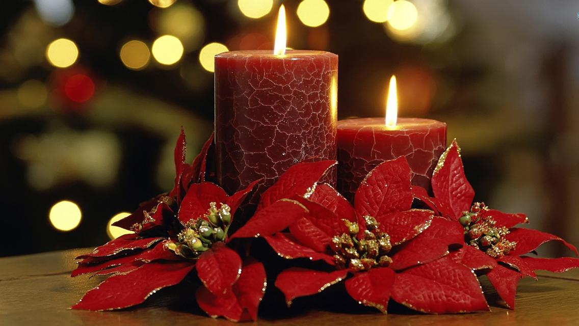 Image of: Christmas Candle Ideas