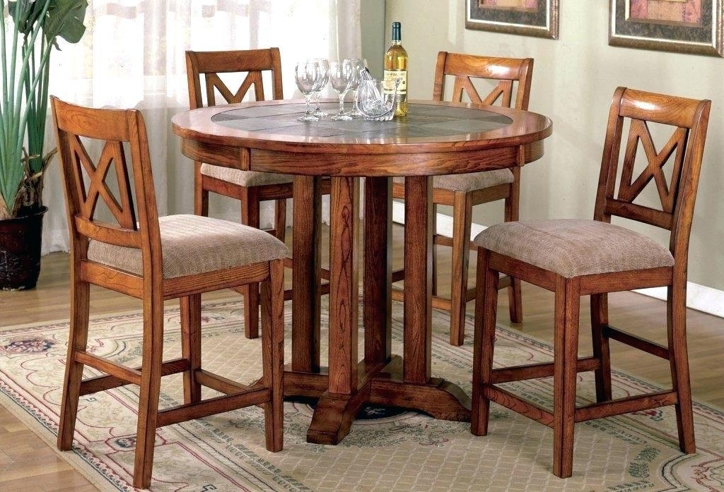 Image of: Compact Dining Table And Chairs Set
