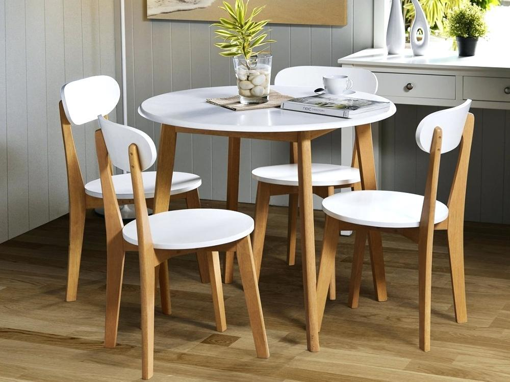 Image of: Compact Dining Table White