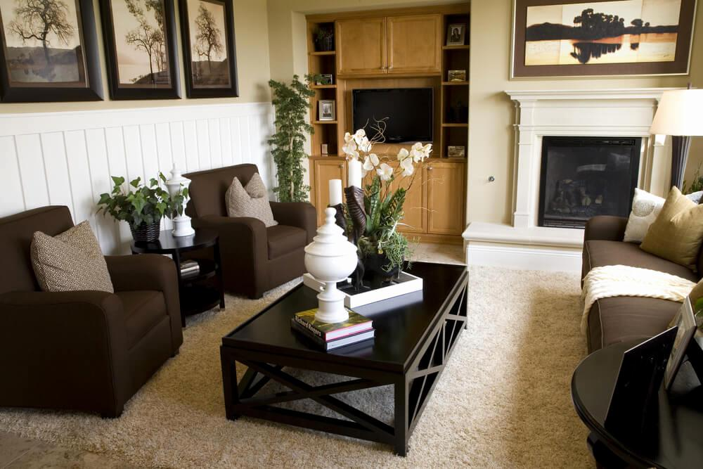 Image of: Dark Brown Living Room Ideas