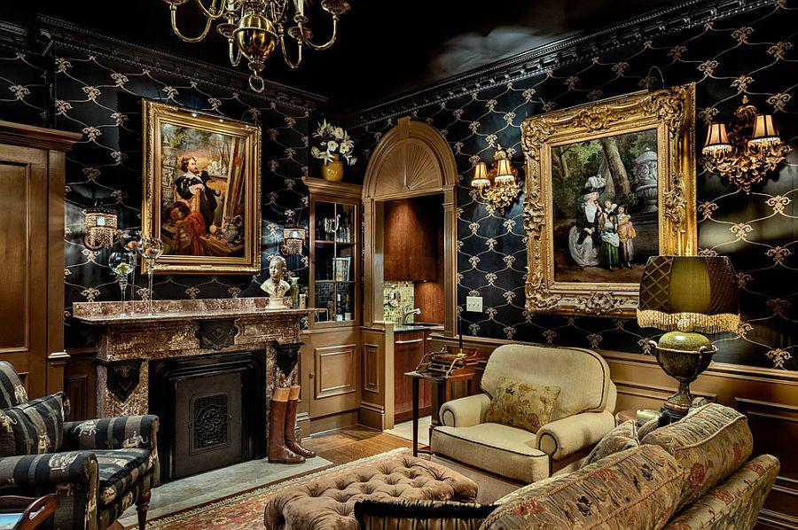 Image of: Elegant Gothic Interior Decorating