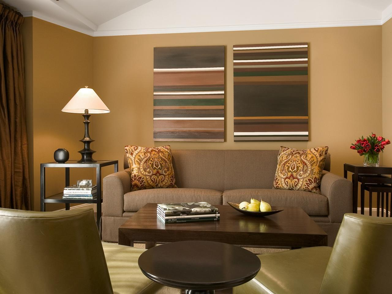 Image of: Elegant Modern Living Rooms Brown Theme
