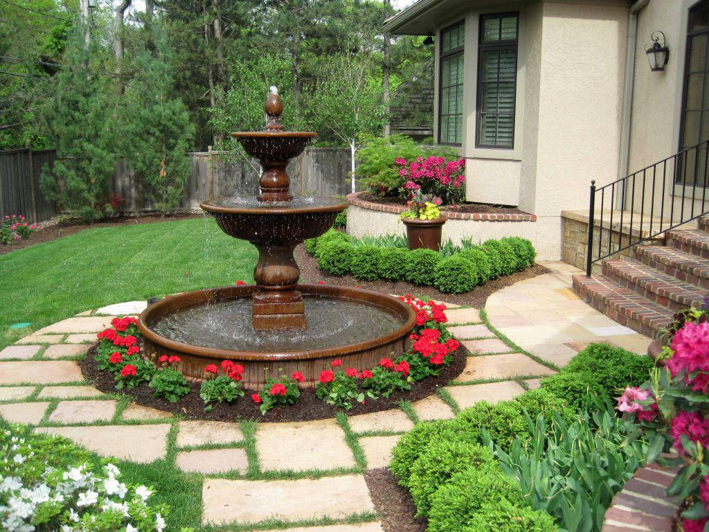 Image of: Fountain In Garden Images
