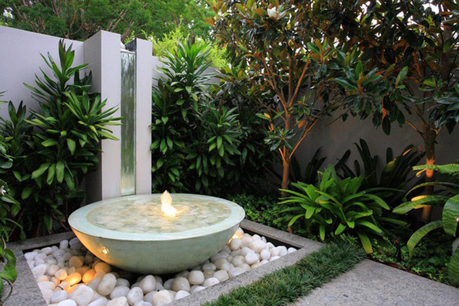 Image of: Fountain In The Garden