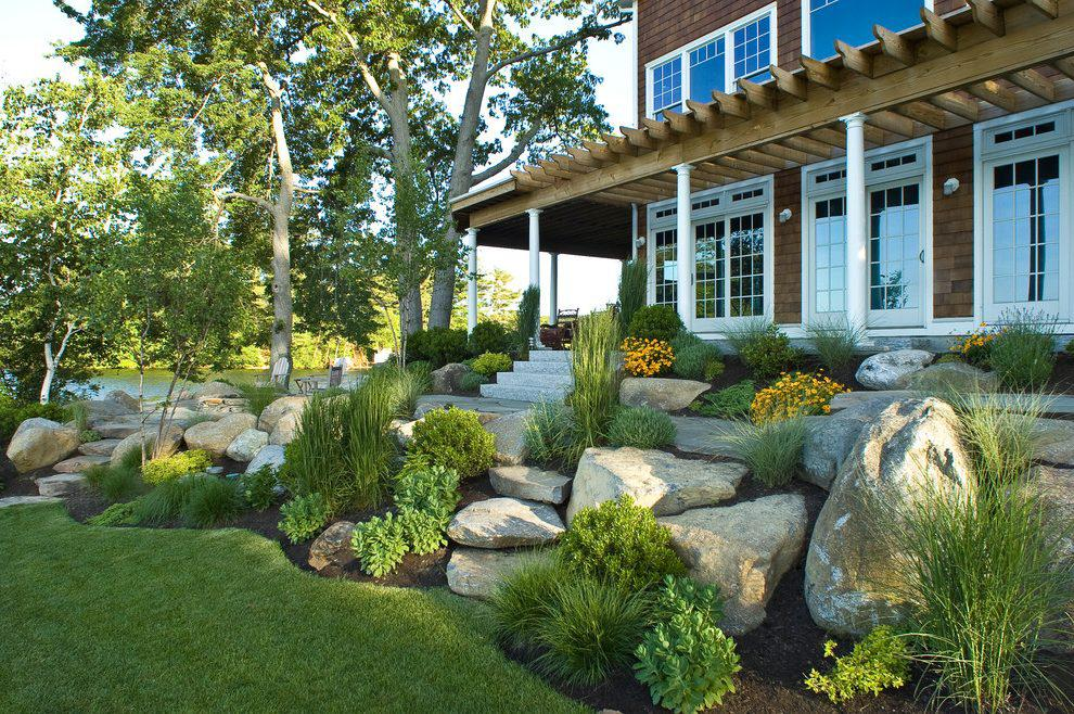 Image of: Front House Landscape Design