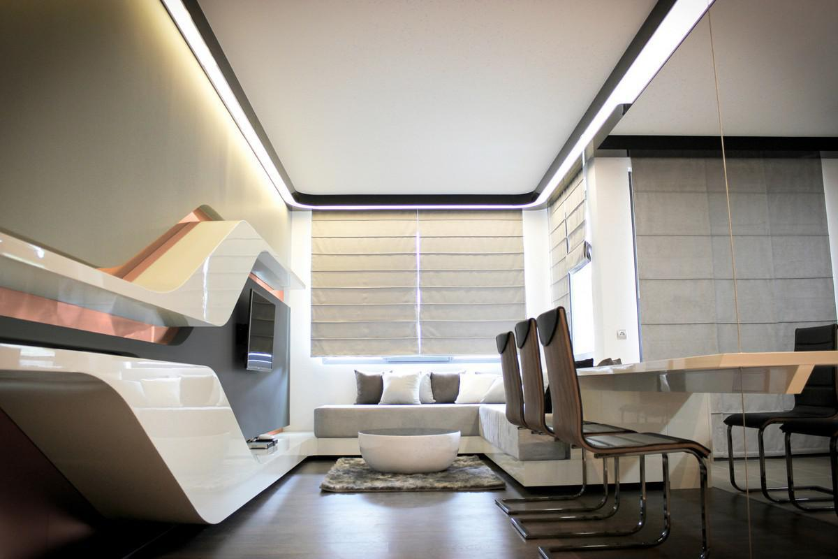 Image of: Futuristic Apartment Interior Design