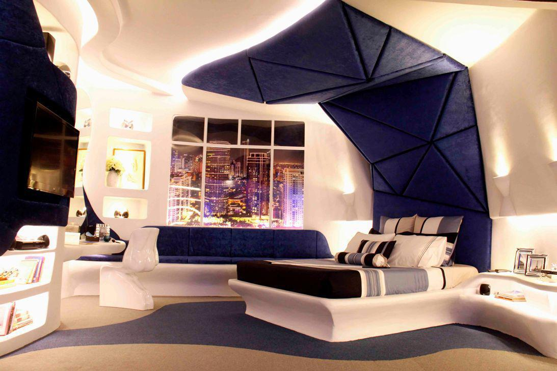 Image of: Futuristic Bedroom Interior Design