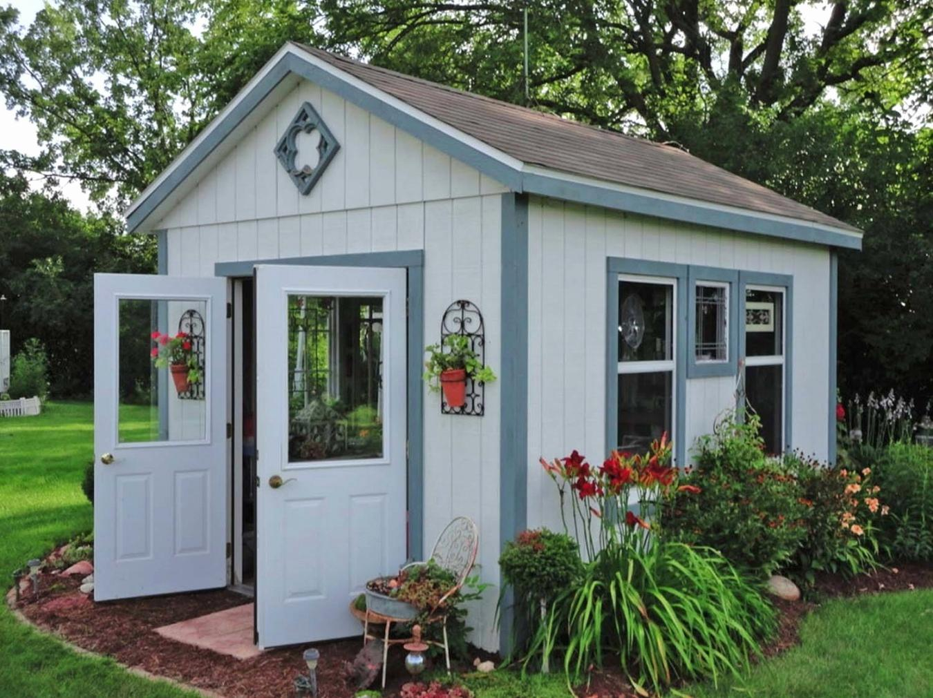 Image of: Garden Shed Decorating Pictures