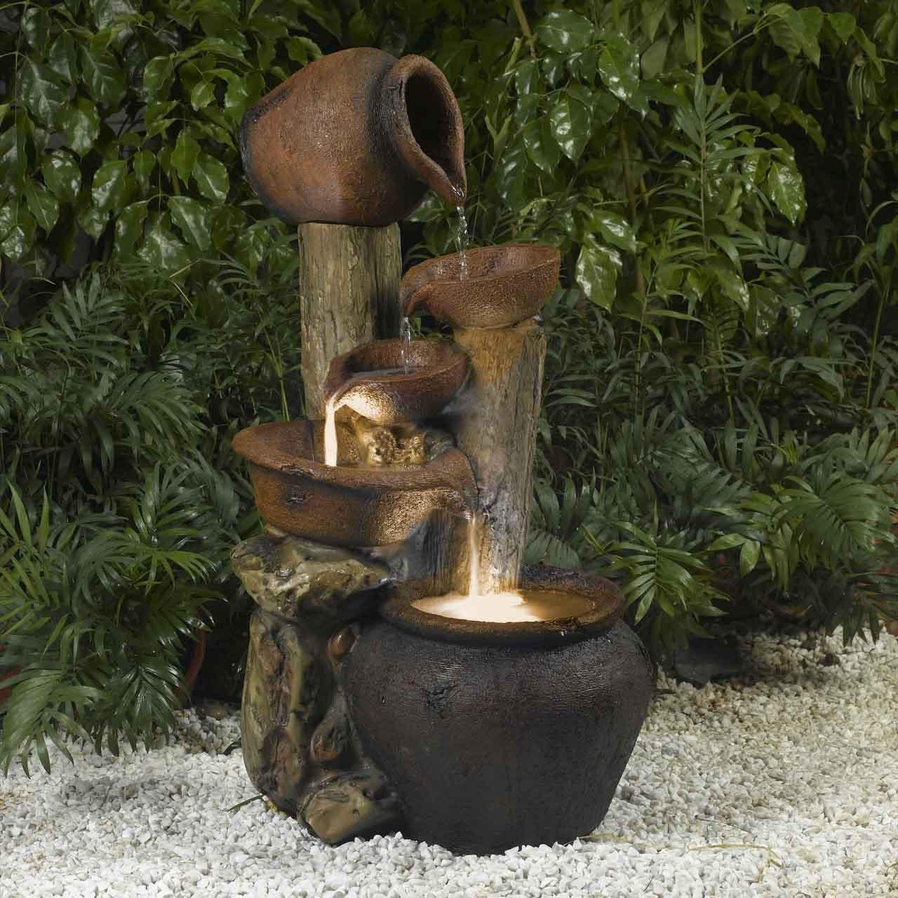 Image of: Garden Water Fountains Lowes