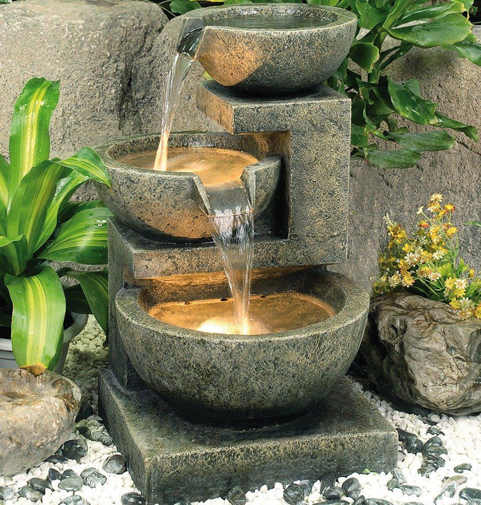 Image of: Garden Water Fountains Near Me