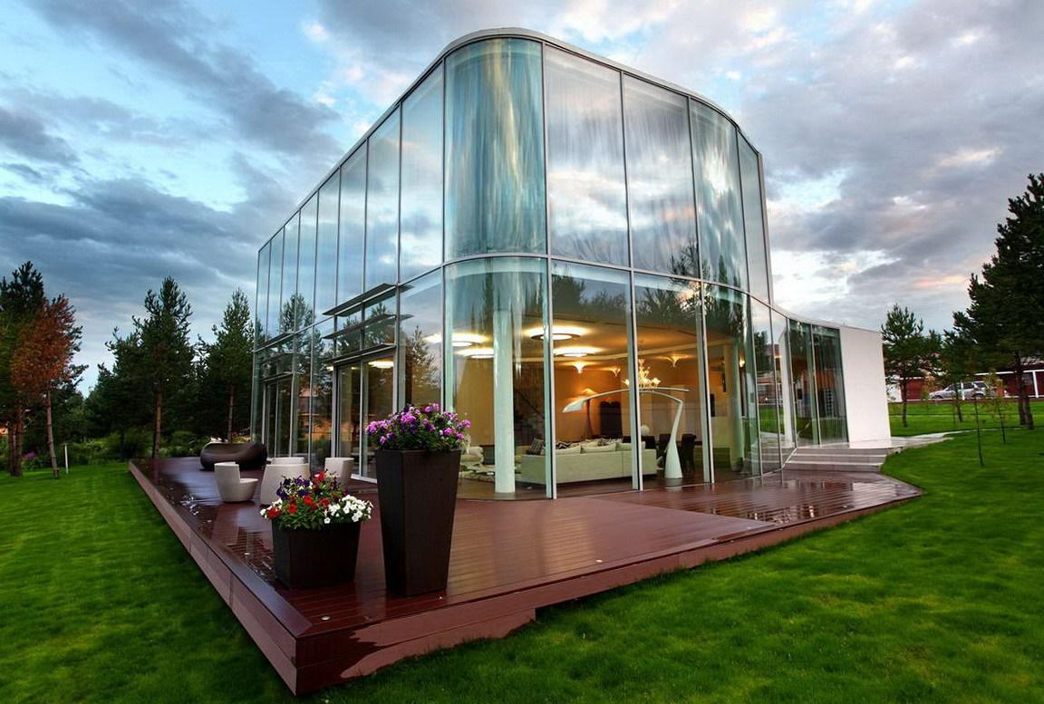 Image of: Glass House Design Ideas