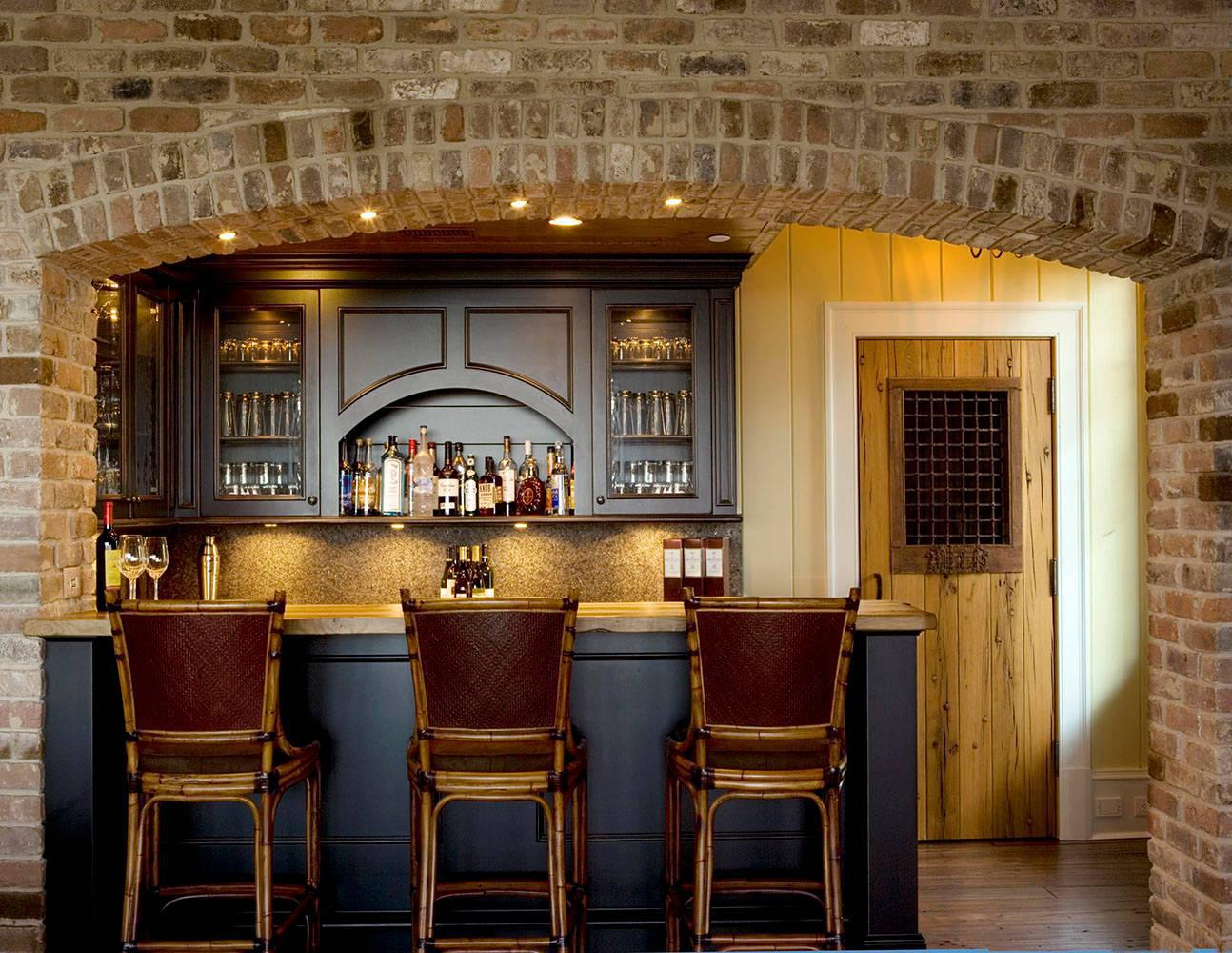 Image of: Home Bar Ideas Rustic