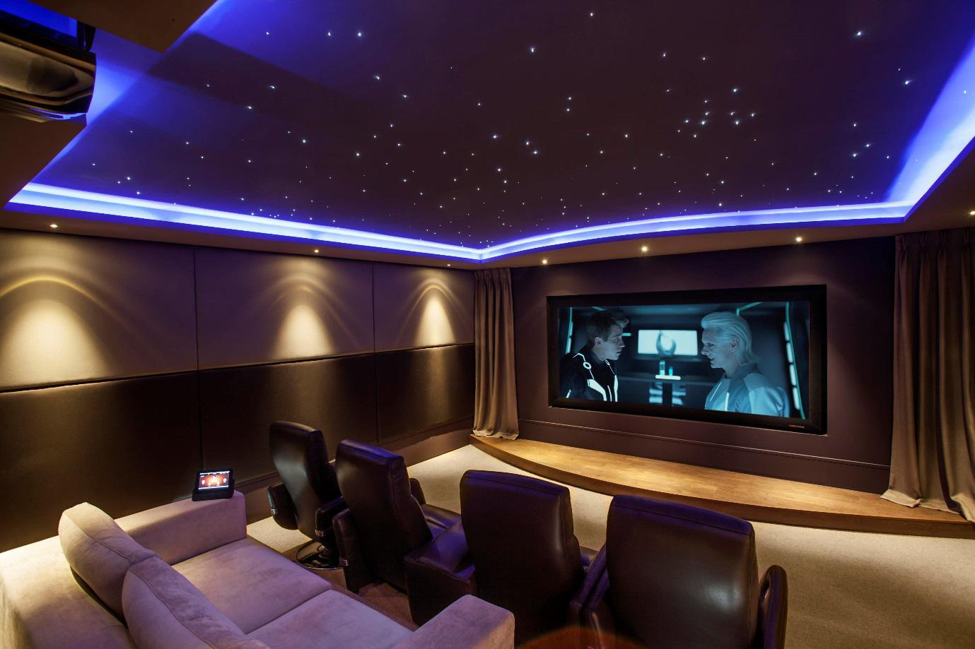 Image of: Home Theater Lighting Layout