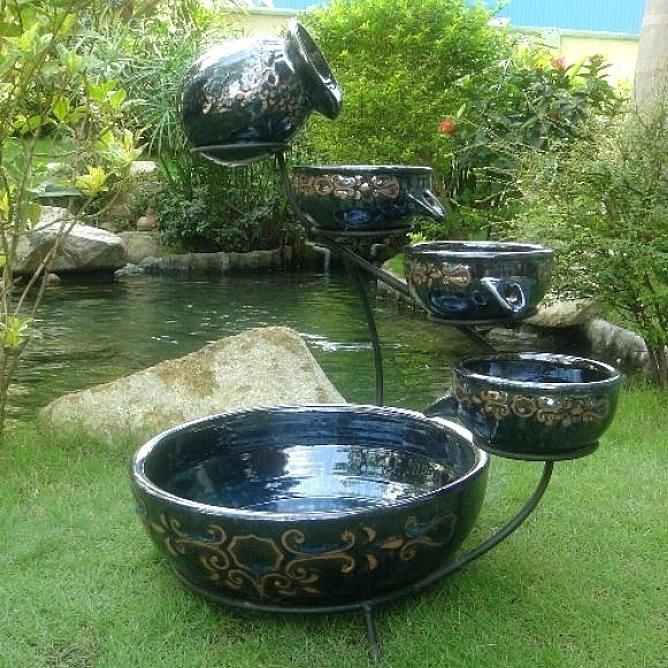 Image of: Homemade Rock Water Fountains