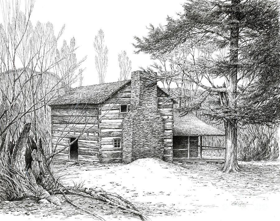 Image of: Houses Landscape Drawing Ideas