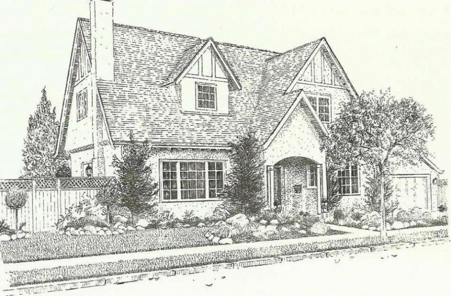 Image of: Houses Landscape Drawing Style
