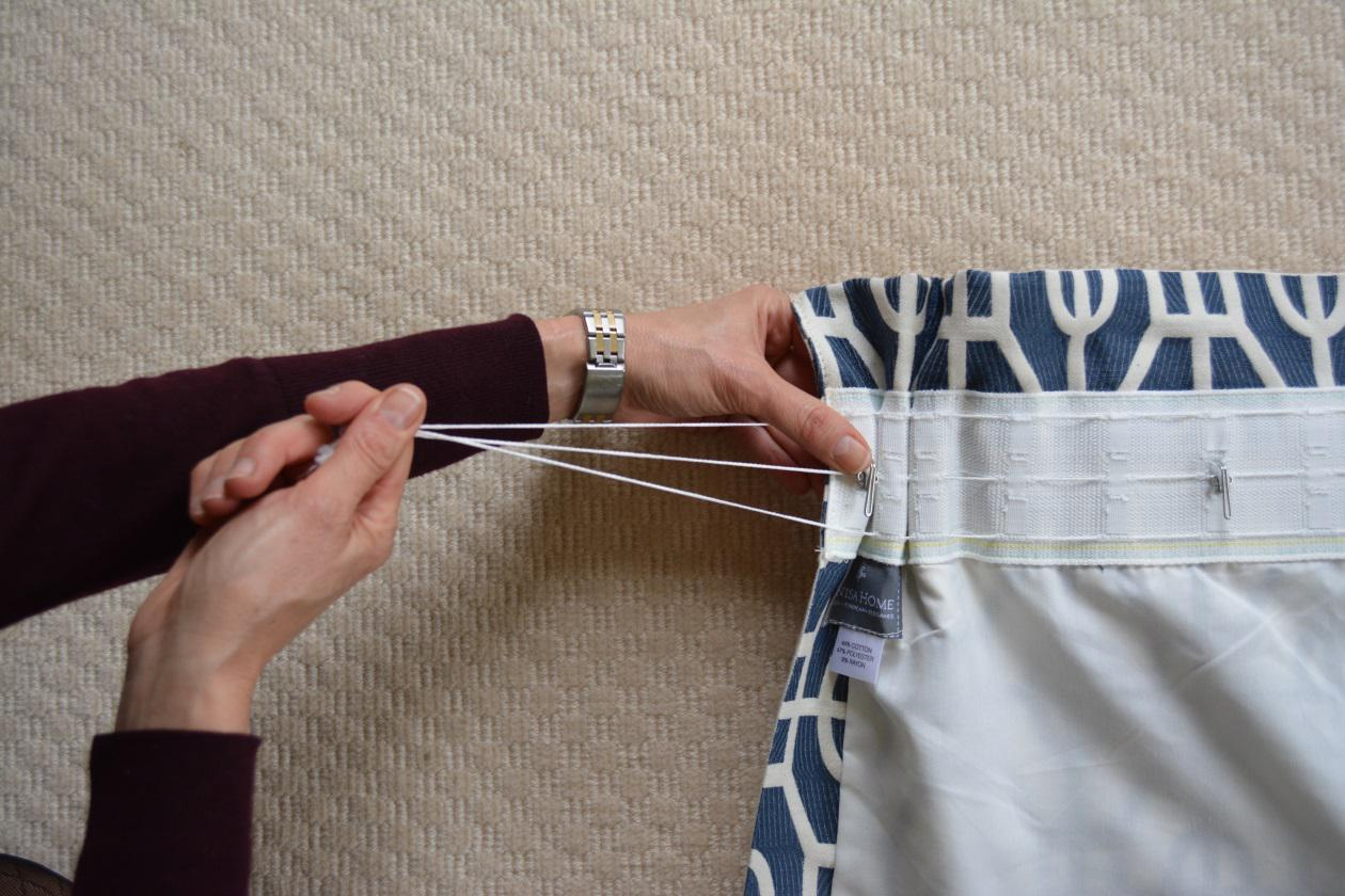 Image of: How To Sew Curtains Easy