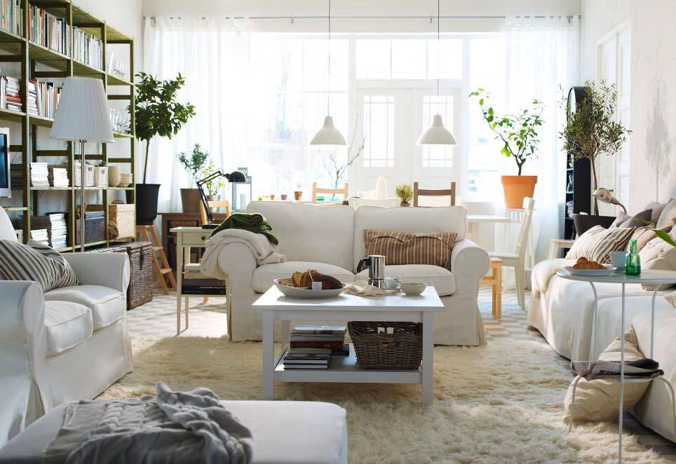 Image of: Ikea Living Room Decorating