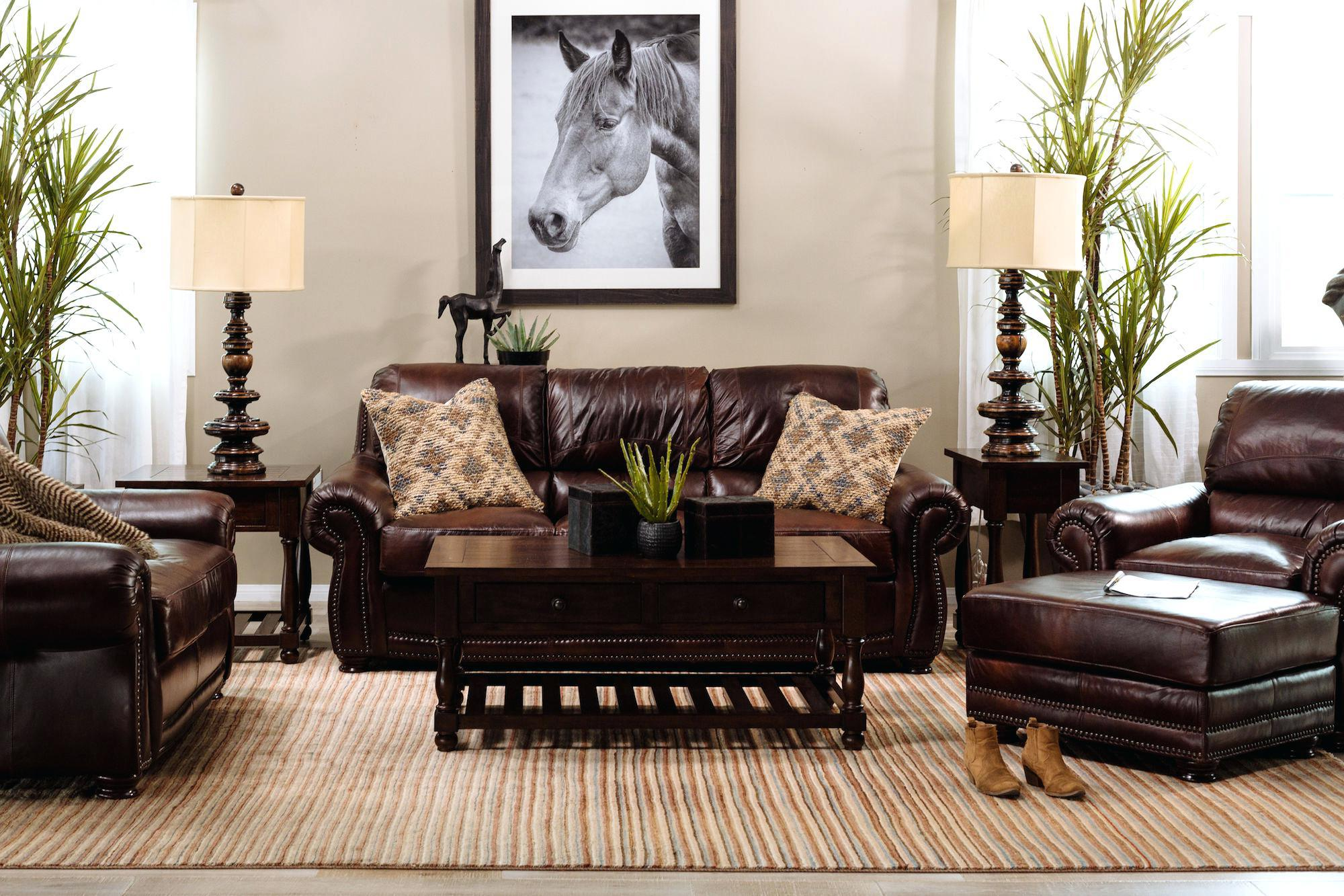 Image of: Living Room Ideas With Brown Furniture