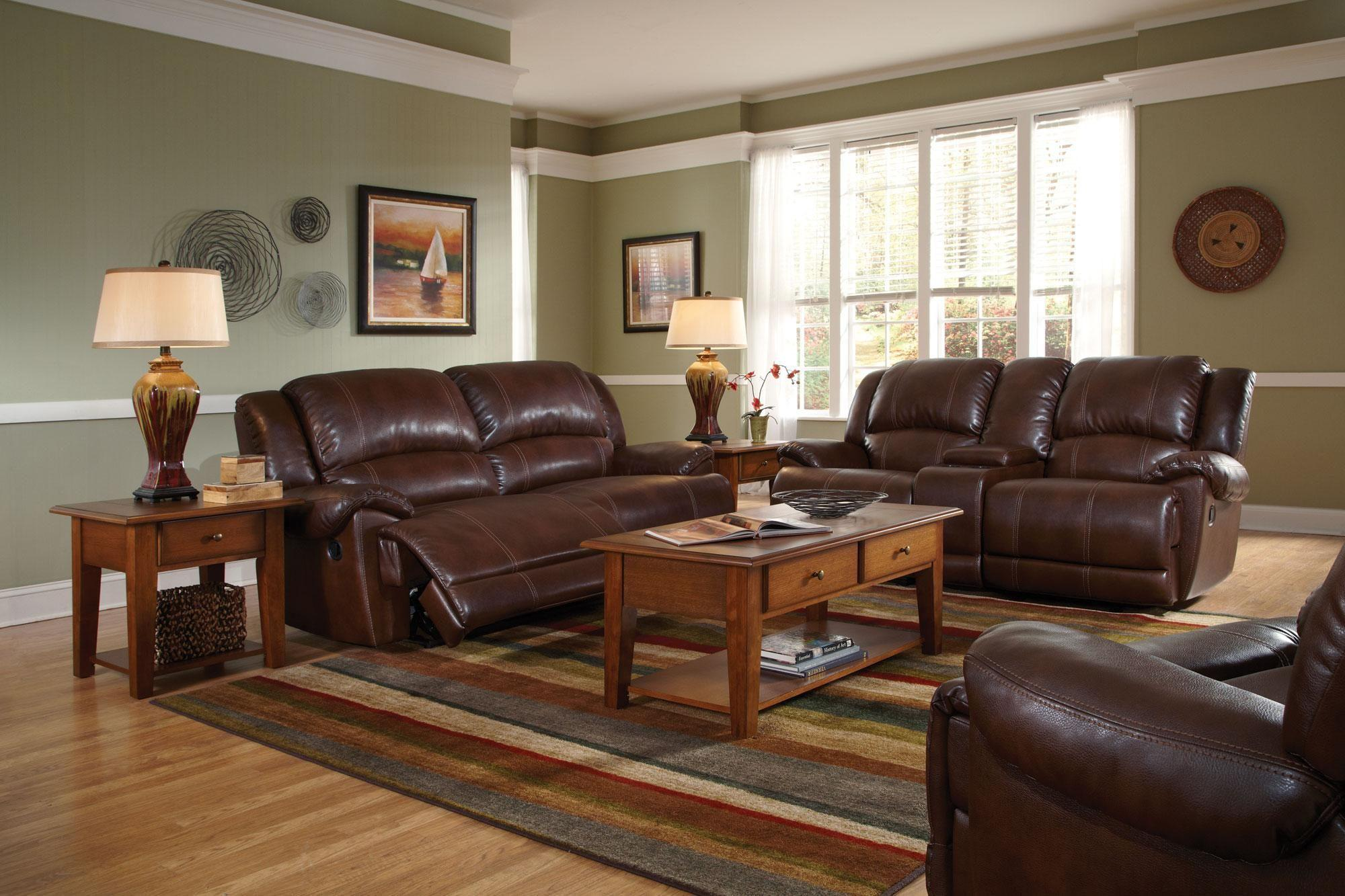 Image of: Living Room With Brown Furniture Style