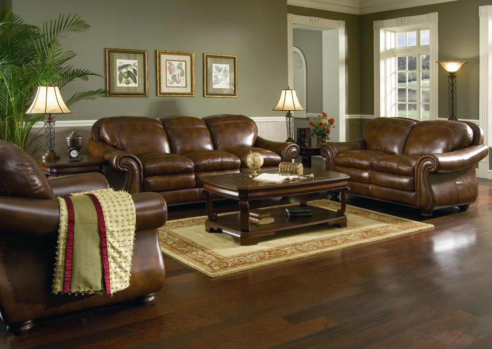 Image of: Living Room With Brown Sofa