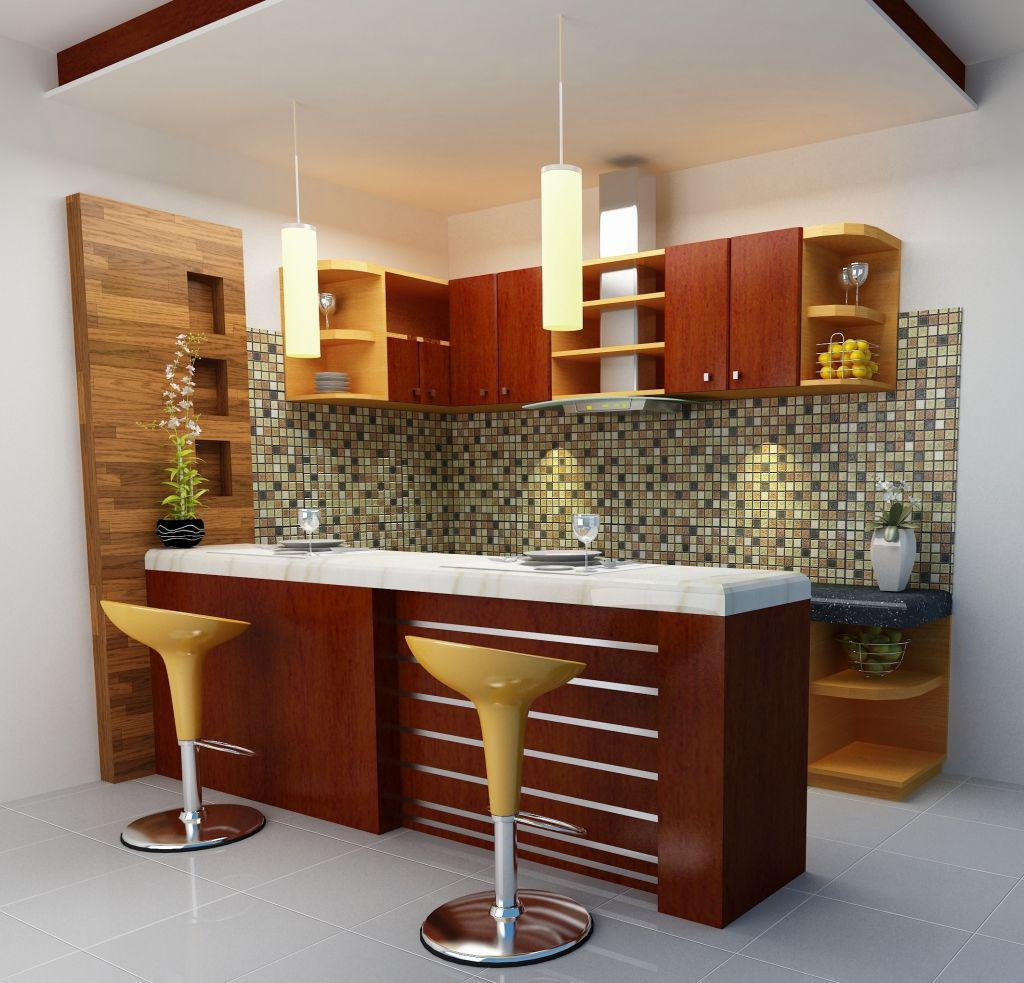 Image of: Mini Bar Design For Small Home