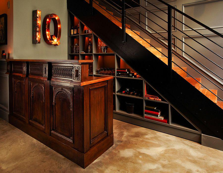 Image of: Mini Bar Ideas Under Stairs