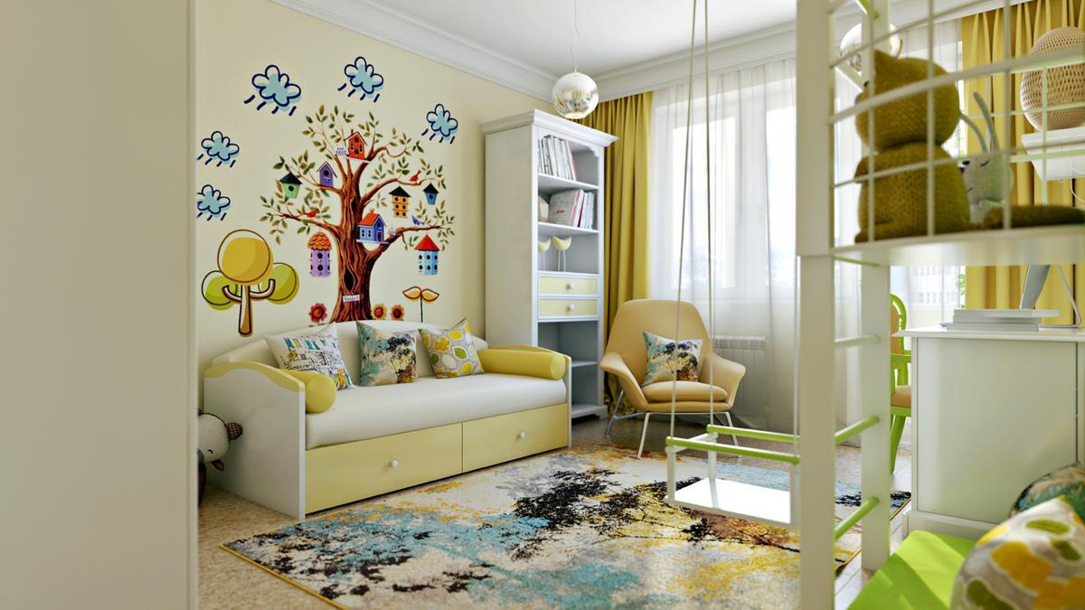 Image of: Modern Child Room Design