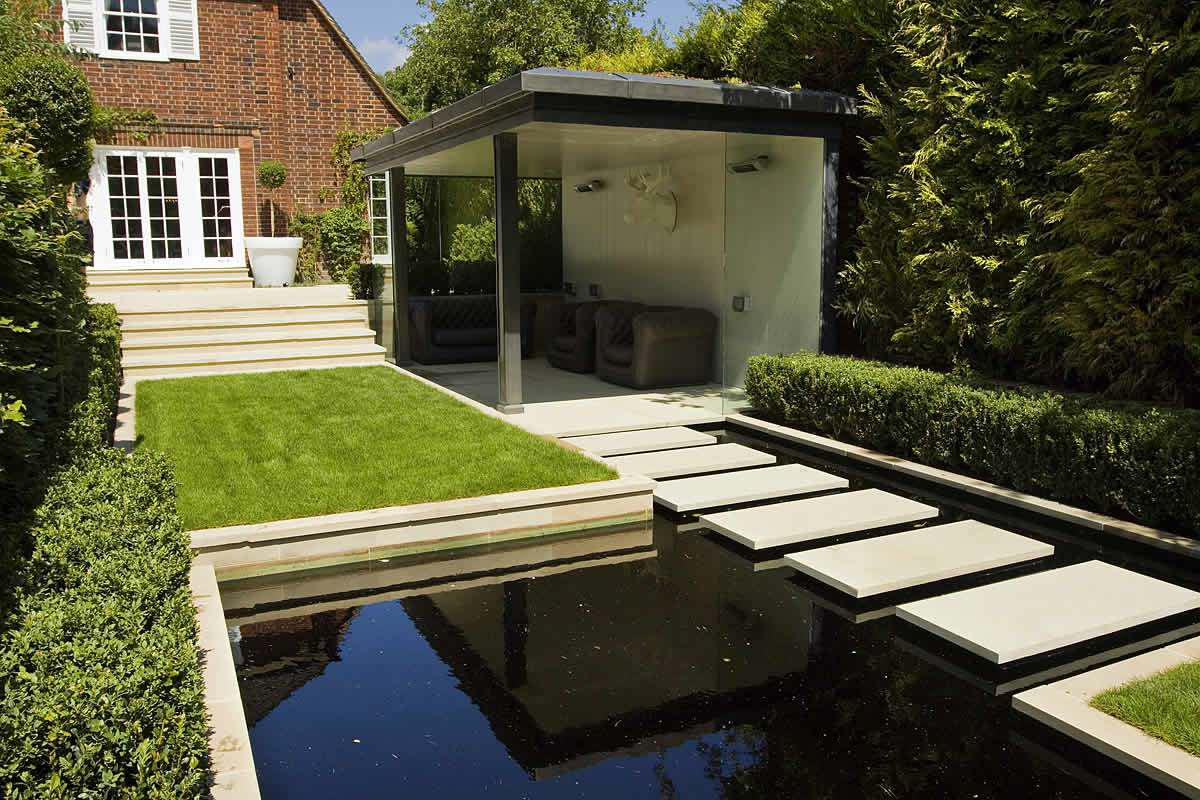Image of: Modern House Landscape Design