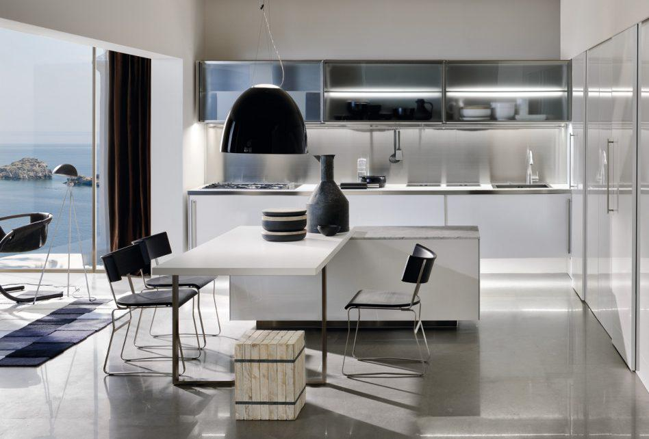 Image of: Modern Kitchen Table With Bench