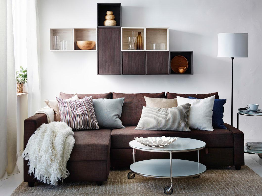 Image of: Modern Living Rooms Brown Theme