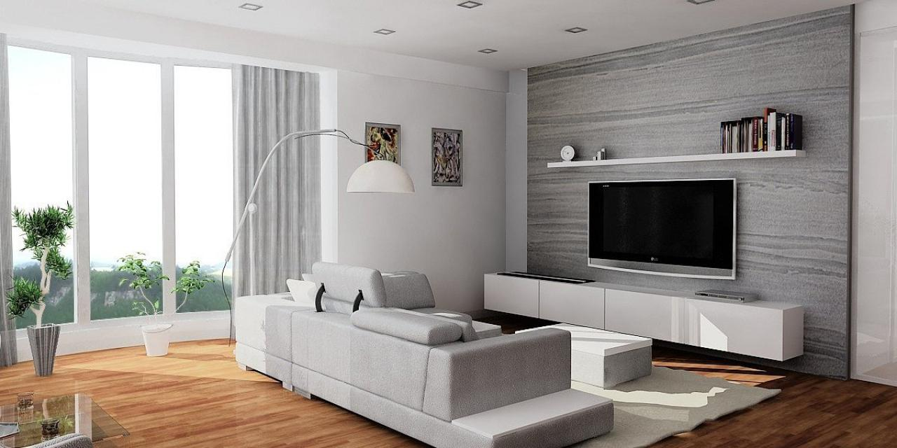 Image of: Modern Living Rooms With Tv