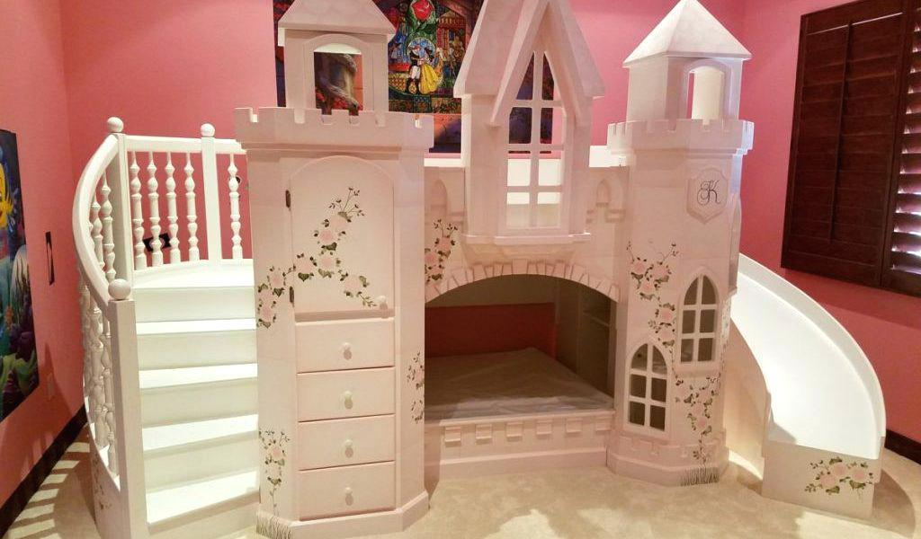 Image of: Princess Bunk Beds With Stairs