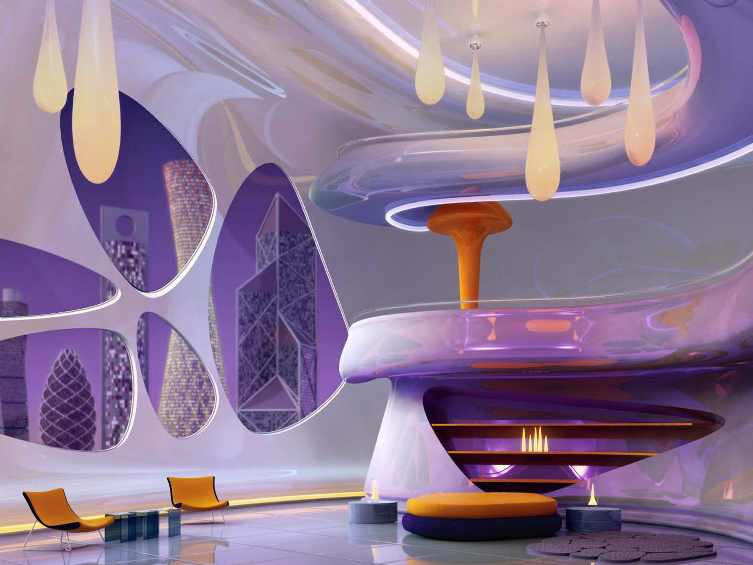 Image of: Retro Futuristic Interior Design
